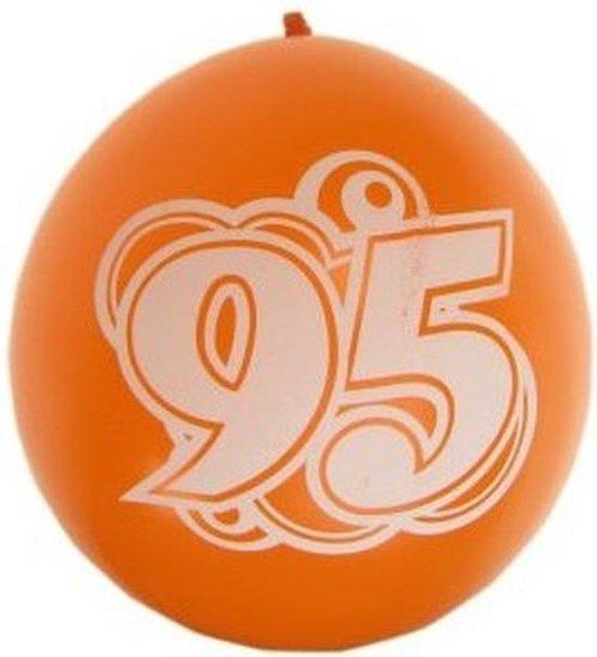 8x stuks verjaardag ballonnen 95 jaar thema - Feestartikelen en versiering