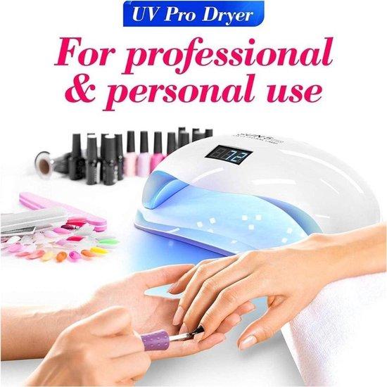 Nageldroger UV Lamp- Infrarood Nageldroger-Inclusief Bewegingssensor en Timer-Gel lak-Nagellamp-Manicure-Inclusief Nagelvijl  Kleur: Wit