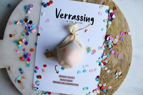 Ballonkaart - Verrassing in een ballon (bekendmaking zwangerschap, trouwen, vragen getuigen etc.)