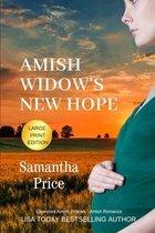 Amish Widow's New Hope Large Print