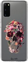 Samsung Galaxy S20 hoesje Transparent Skull Casetastic Smartphone Hoesje softcover case