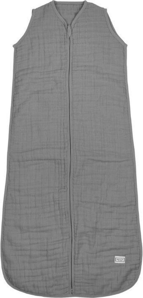 Meyco Uni hydrofiele babyslaapzak - 90 cm - grijs
