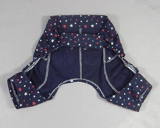 Leuke broek van denim kleur blauw - M ( lengte 17 cm, omvang 46 cm )