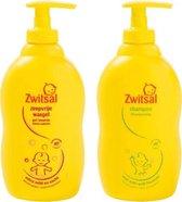 Zwitsal Zeepvrije Wasgel 400 ML Pomp & Zwitsal Anti-Prik Shampoo 400 ML Pomp