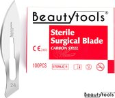 Scalpels - Pedicure / Bistouri messen - NR. 24 (100 Stuks - individueel/steriel verpakt) - (BP-0645)