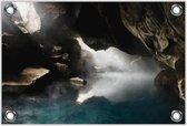 Tuinposter –Zee in de Rotsen– 120x80 Foto op Tuinposter (wanddecoratie voor buiten en binnen)
