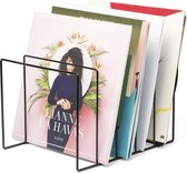 Aiden® - LP Vinyl opbergrek - opberg systeem- platenrek - minimalistisch design - opbergmeubel - Platenhouder - staal - zwart