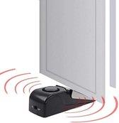WiseGoods Deurstopper Met Alarm - Deurwig met Alarm - Anti Inbraak Deurstopper - Ideaal voor in Hotelkamer - Zwart | Zilver