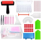 Diamond painting pakket volwassenen en kinderen -  diamond painting accesoires box - roller - sorteerdoos - accessoires opbergdoos - corrector - pen