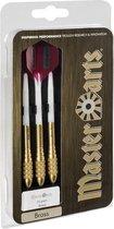 Set met 3 dartpijlen in opbergdoos - 20 grams - Masterdarts - Darts - Brass barrel - Dartpijlen