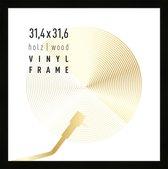 Vinyl lp platen wissellijst - frame lijst voor inlijsten LP vinyl elpee platen - hout