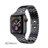 HighFiv® HIVE® Roestvrij Stalen Band voor Apple Watch- Geschikt voor series 1 t/m 5- Stainless Armband voor Horloge- Verstelbaar - 42/44mm