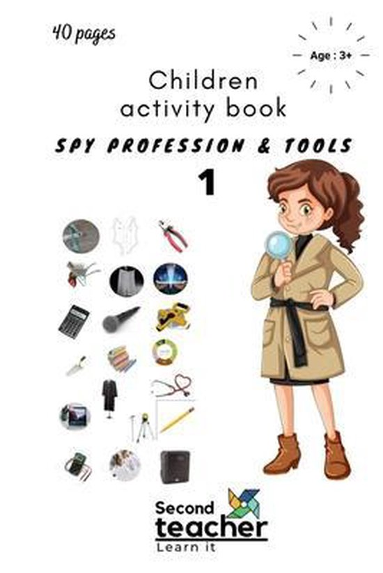 Spy Profession and Tools;children Activity Book
