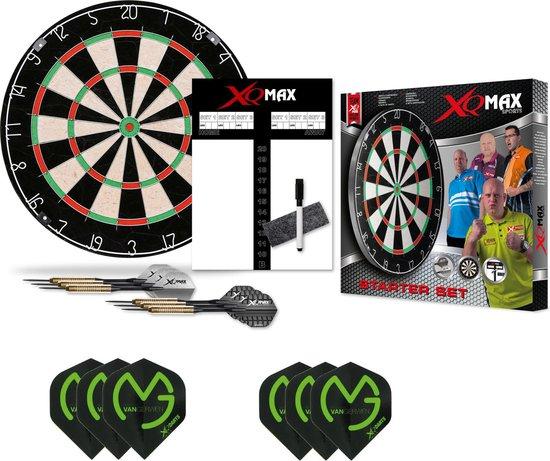 XQ-MAX Michael van Gerwen complete starter set - dartbord - 2 sets dartpijlen - scorebord met een stift