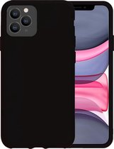 iPhone 11 Pro Max Hoesje Siliconen Case Hoes Back Cover - Zwart