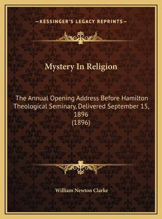 Mystery in Religion Mystery in Religion