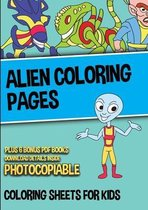 Alien Coloring Pages (Coloring Sheets for Kids)