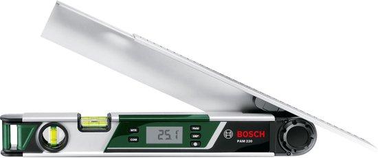 BOSCH Digitale Hoekmeter PAM 220 - Betrouwbare Meetresultaten - Verlicht Display