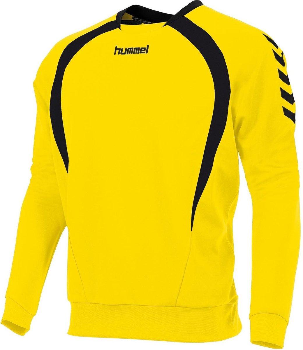hummel valencia top round neck zwart geel