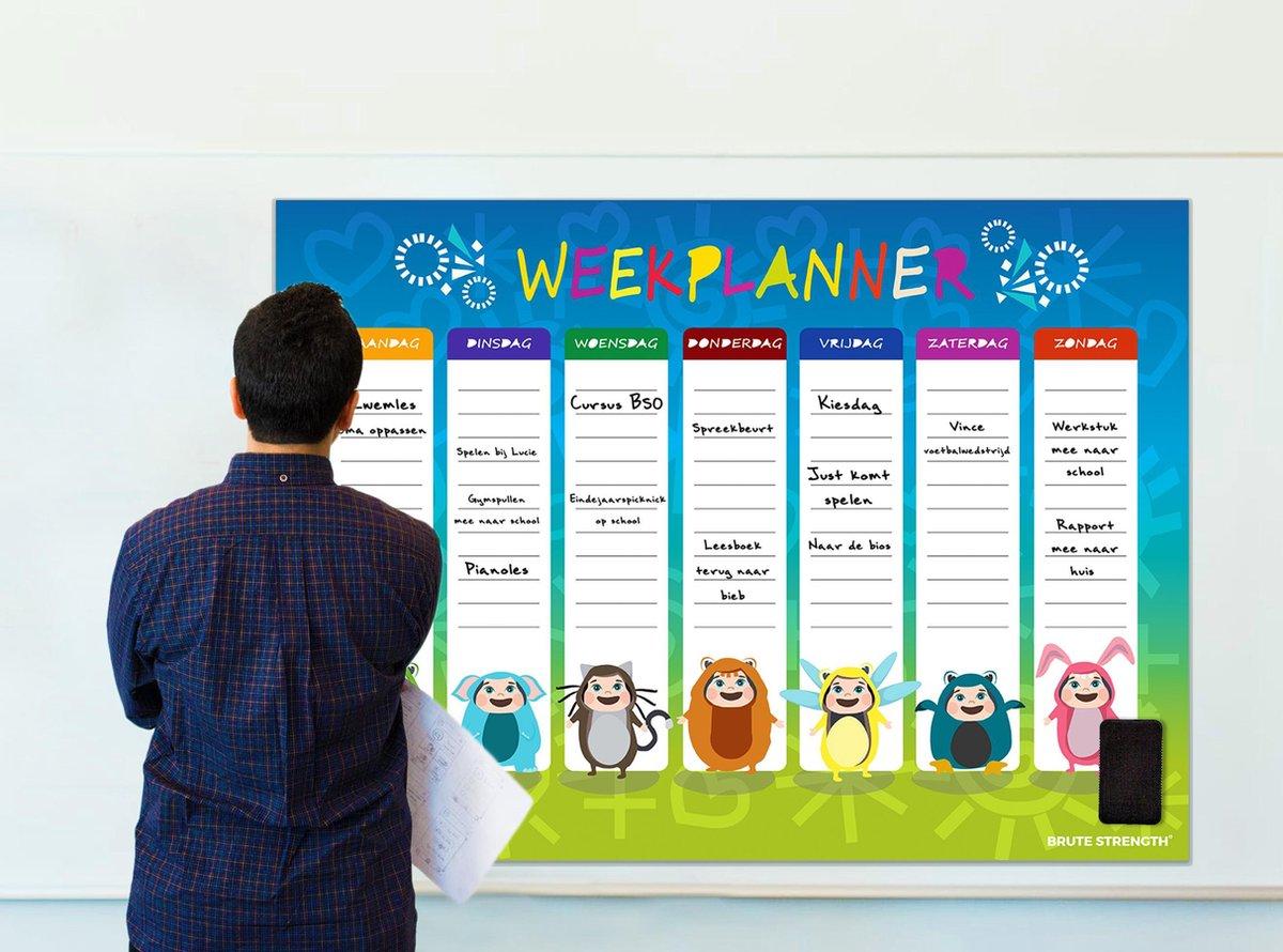 Magnetisch Weekplanner whiteboard (9) - 93 x 69 cm - Planbord - Familieplanner - Gezinsplanner - To Do Planner
