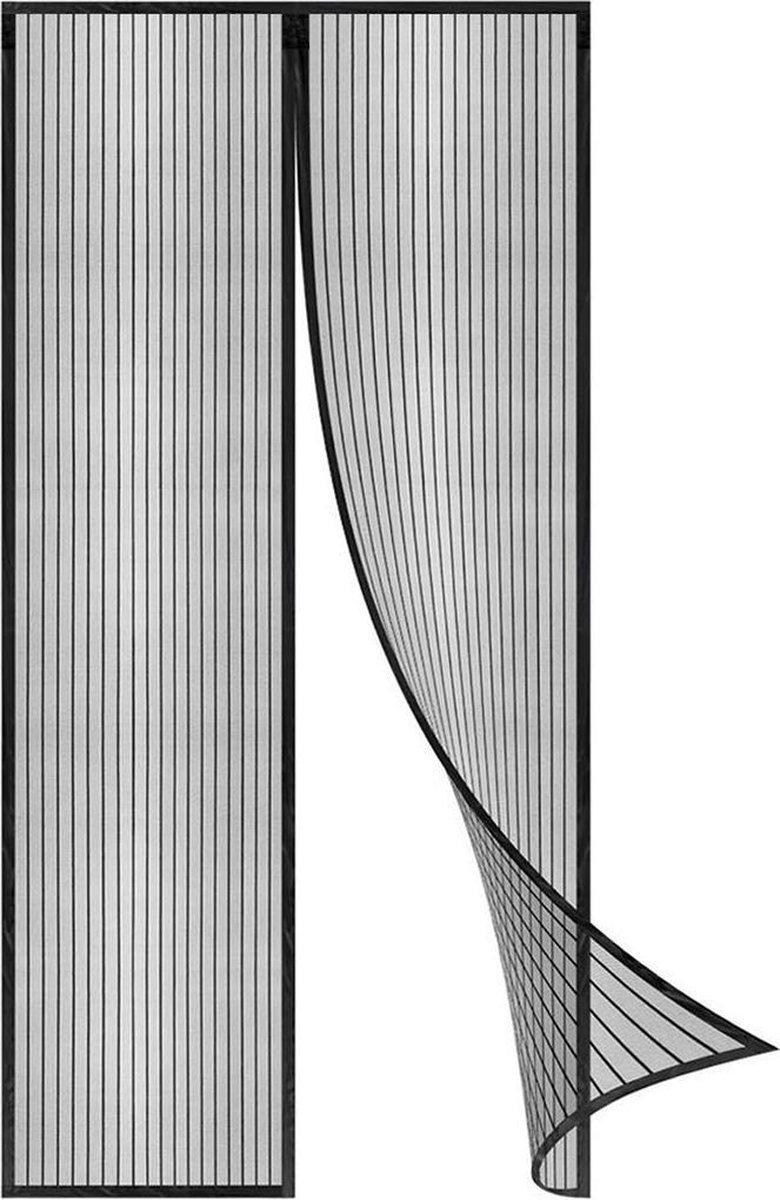 ForDig Luxe Deurhor Magnetisch - Horgordijn – Vliegengordijn – Hordeur - 210 x 100 - Zwart