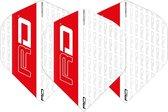 RED DRAGON - Hardcore XT Wit en Rood extra dikke dart vluchten - 4 sets per pakket (12 dartvluchten in totaal)