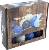Solar Slinger Verlichting | 10 Cotton Balls | 2 meter | lichtsnoer. tuinverlichting