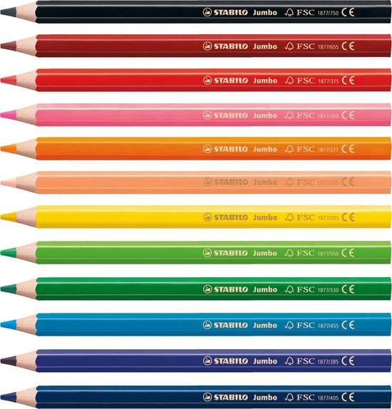 STABILO Jumbo Kleurpotloden - Etui 12 Kleuren