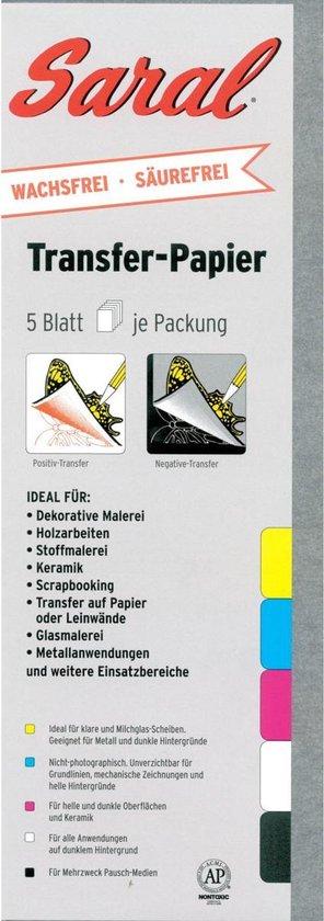 Afbeelding van Saral transferpapier – Graphite set – 5 vel grafiet