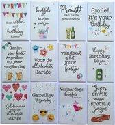 Verjaardagskaarten   Set van 10 en 2 Extra-L-157