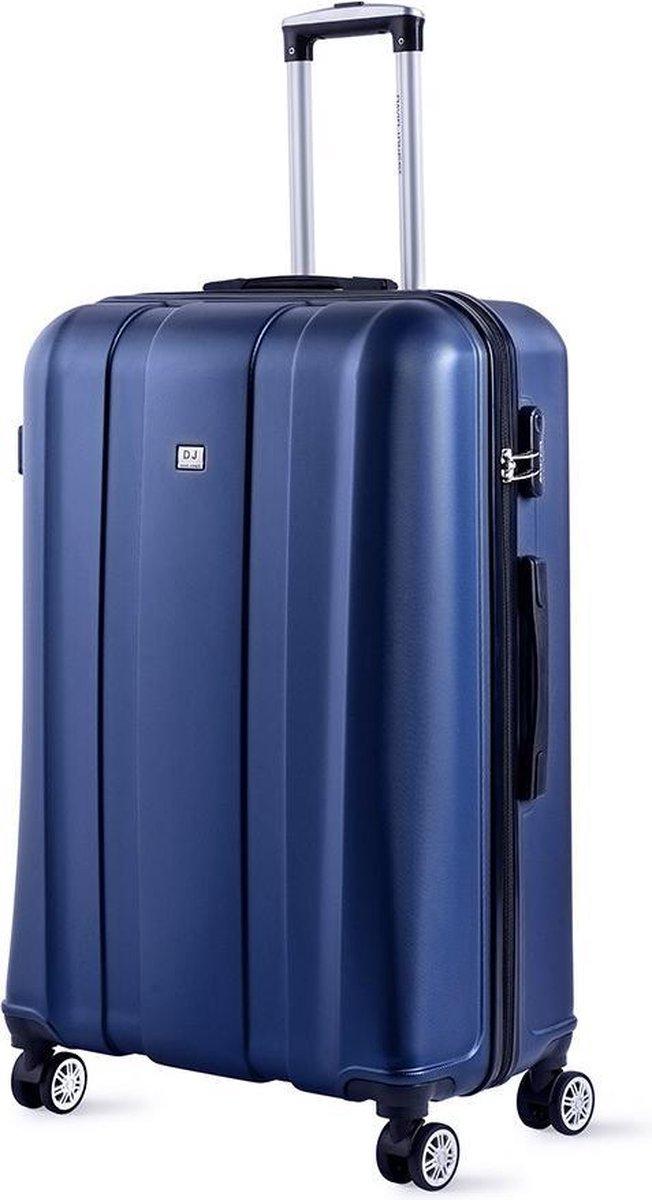 David Jones Large Koffer - 79 cm - Cijferslot - Blauw kopen