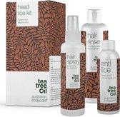 Australian Bodycare Hoofdluis behandelingsset met Tea Tree & dimeticon - 3 Producten met Tea Tree Olie tegen Hoofdluis & Neten - Anti-hoofdluis Behandeling in 15 minuten, Hoofdluis Preventie Spray & Shampoo voor het hele gezin