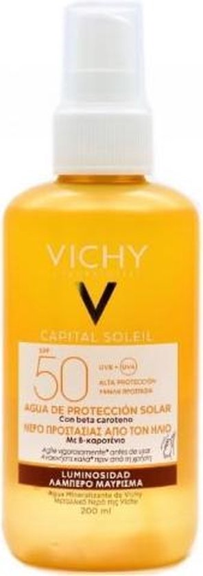 Vichy Capital Soleil Zonbeschermend water SPF50 - 200ml - optimale bruine teint