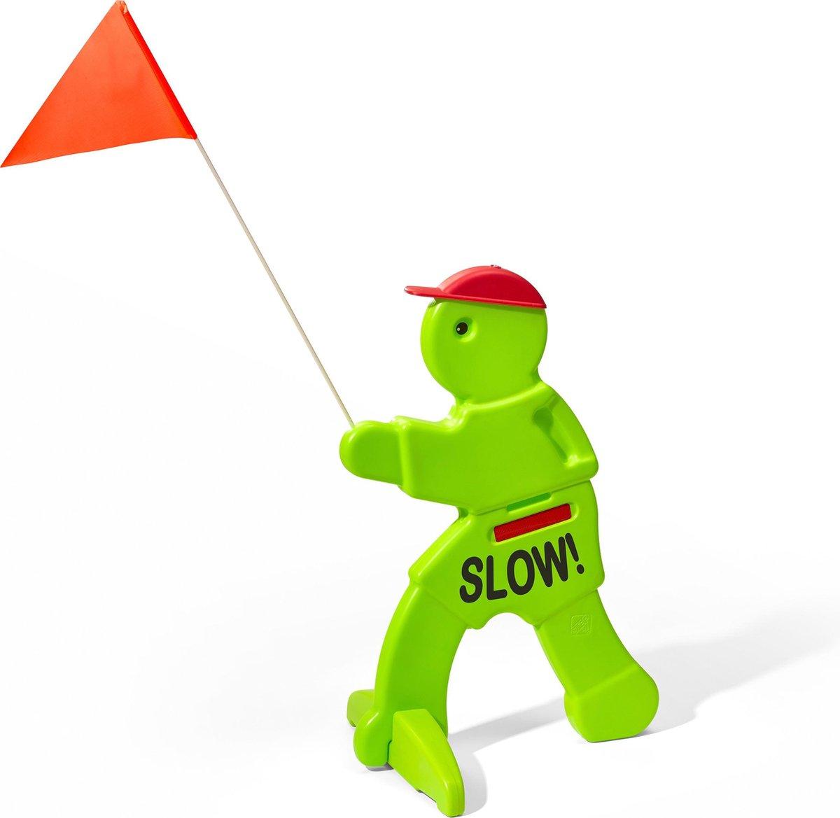 Victor Veilig met Rode Waarschuwingsvlag - Verkeersmaatje groen - Kid Alert