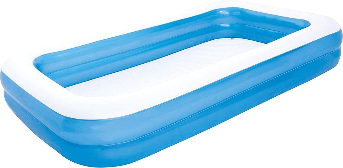 Bobby's Opblaasbaar Zwembad - Familiezwembad - Zwembaden - Rechthoekig zwembad voor kinderen vanaf 3 jaar en volwassenen - Tuin & buiten - 305 x 183 x 46 cm