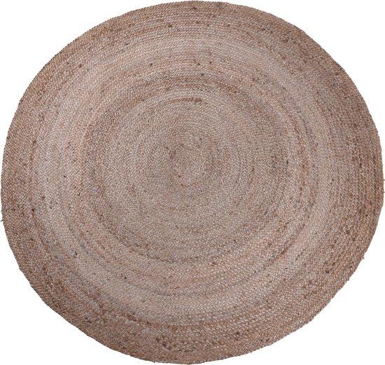 Tapijt rond 150 cm gevlochten jute - vloerkleed - vloerkleden -prachtig jute ronde tapijt - bohemien stijl