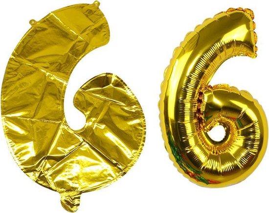 Ballon Goud Cijfer 6