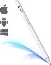 Gervisry Stylus Pen voor Touch Screens – Digitale Pen – Actieve Pen – Fijne Punt – Compatibel met iPhone, iPad Pro en Andere Tablets – Styluspennen - Wit