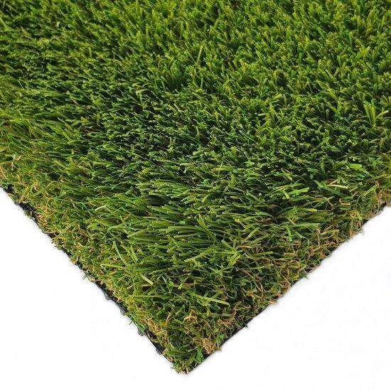 Kunstgras Tapijt DUBAI groen - 100x200cm - 40mm|artificial grass|gazon artificiel|tuin|balkon|terras|grastapijt|gras mat
