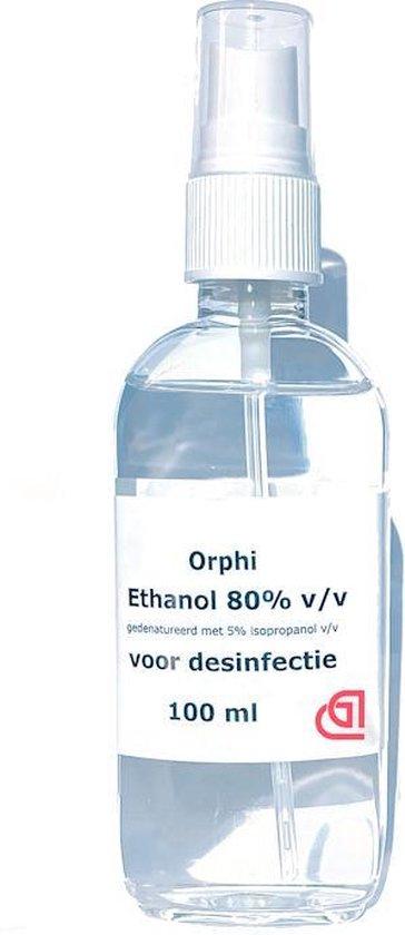 Afbeelding van Desinfectie Spray Alcohol 80% - 100ml. Met spray kop.