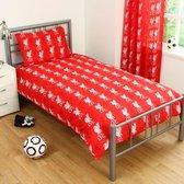 Liverpool FC - 1-Persoons dekbedovertrek - Reversible - Rood/Zwart - 135 x 200 cm