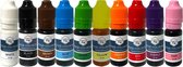 Eetbare Kleurstoffen 10 stuks - Complete Set | Topkwaliteit Voedingskleurstoffen in handig doseer-flesje | voor Taart / Bakken