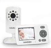 Babyfoon met camera - HelloBaby HB30 - Video babyphone - Nachtzicht - Geluidsactivatie - Terugspreekfunctie - Zoomfunctie - Nederlands / Franstalig