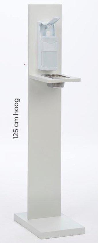 Desinfectie zuil | Desinfectie paal | Basis | Handmatig | 125 cm