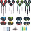 LONGFIELD DARTS SET STEELTIP BRASS AND TUNGSTEN LOOK 23 GR