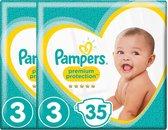 Pampers Premium Protection Luiers - Maat 3 - 2 x 35 Stuks
