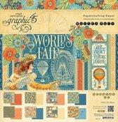 Graphic 45 World's Fair 12x12 Inch Paper Pad (4501177)