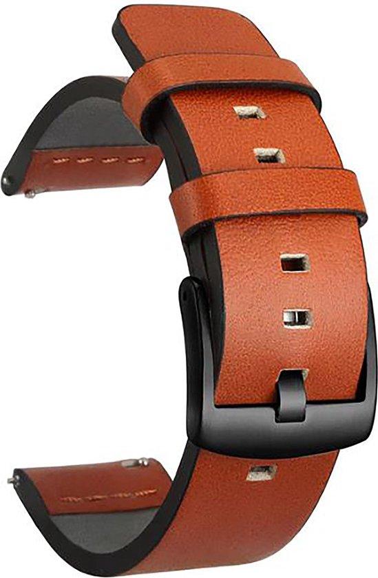 Horlogeband van Leer voor Shinola   22 mm   Horloge Band Horlogebandjes   Cognac