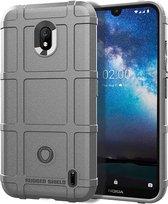 Schokbestendige beschermhoes volledige dekking siliconen hoesje voor Nokia 2.2 (grijs)