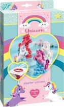 Totum Unicorn - eenhoorns maken met gips - gipsgiet & verfset voor 2 unicorns met regenboogkleuren - knutselset